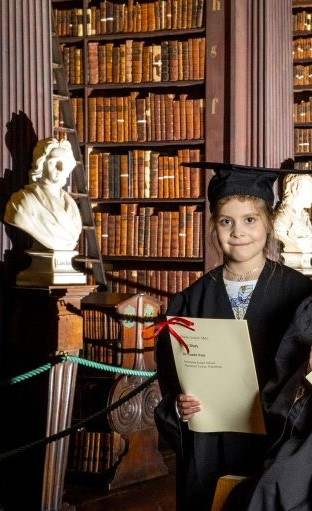 Ysandre Naud Second Class Wins Merit Award in Trinity College Book of Kells Competition